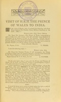view Notes on the visits to India of their Royal Highnesses the Prince of Wales and the Duke of Edinburgh, 1870 - 1875-6