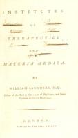 view Institutes of therapeutics and materia medica