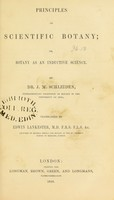 view Principles of scientific botany, or, Botany as an inductive science