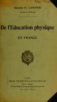 view De l'éducation physique en France