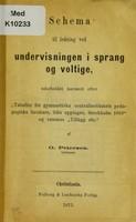 view Schema til ledning ved undervisningen i sprang og voltige / udarbeidet ... af O. Petersen.