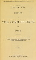 view Report of the commissioner for 1878 : part VI.