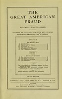 view The great American fraud : articles on the nostrum evil and quacks, in two series, reprinted from Collier's weekly