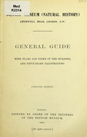 view General guide with plans and views of the building.
