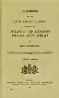 view Handbook of the regulations relating to contagious and infectious diseases among animals in Great Britain