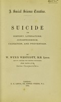 view Suicide : its history, literature, jurisprudence, causation, and prevention