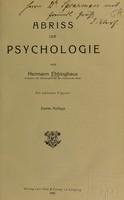 view Abriss der Psychologie / von Hermann Ebbinghaus.
