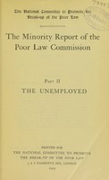 view The Minority report of the Poor law commission.