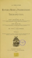 view A treatise on materia medica, pharmacology, and therapeutics / by John V. Shoemaker ... and John Aulde.