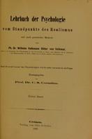 view Lehrbuch der Psychologie : vom Standpunkte des Realismus und nach genetischer Methode / von Wilhelm Volkmann Ritter von Volkmar.