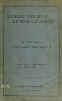 view Illustrated price list of electro-medical apparatus