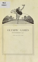 view Olympic Games : Stockholm 1912 (June 19th-July 22nd).