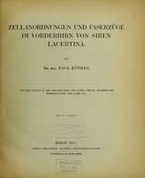 view Zellanordnungen und Faserzüge im Vorderhirn von Siren lacertina / von Paul Röthig.