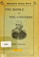 view The riddle of the universe at the close of the nineteenth century
