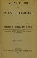view What to do in cases of poisoning