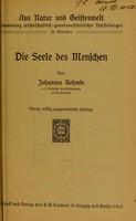 view Die Seele des Menschen / von Johannes Rehmke.