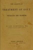 view The salicylic treatment of gout, neuralgia and diabetes