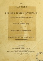 view The satires of Decimus Junius Juvenalis
