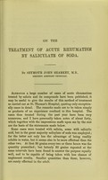 view On the treatment of acute rheumatism by salicylate of soda.