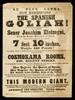 [Undated handbill (1848?) noting the exhibition of Joachim Eleizegui, The Spanish Giant, at the Cosmorama Rooms, Regent Street, London].