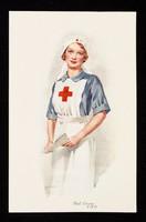 view [Postcard showing a Red Cross nurse (V.A.D.)].