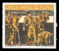 view [Fund-raising sticker for the Daily Mail Red Cross Fund].