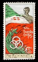 view [Fund-raising sticker, Pro Richiamati Tota Sabina civitas. White cross?].