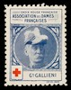 [Stamp-like sticker sold to raise funds for the French Red Cross. Bearing a portrait of: Gal. Gallieni].