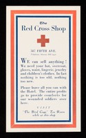view [Card advertising the American Red Cross shop at 587 Fifth Avenue].