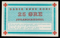 view [25 Øre note (onboard currency) as used on the hospital ship, Jutlandia during the Korean War].