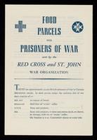 view [Leaflet explaing the Red Cross prisoner of war food parcels system during world war 2 and asking for help].