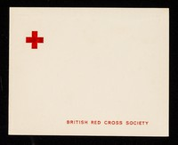 view [British Red Cross Society Christmas card featuring a photograph of Queen Elizabeth, Prince Philip and Prince Charles and Princess Anne as toddlers].