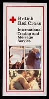 view [British Red Cross Society leaflet about their international tracing and message service].