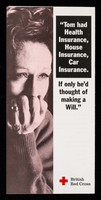 view [British Red Cross Society leaflet about making a will and asking for donations via legacies].