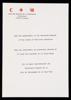 view [A5 compliments slip for the League of Red Cross Societies, Geneva (1972?)].