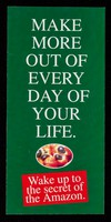 view [Leaflet advertising Rio Trading Company (Health) Ltd.'s Rio Amazon Guarana tablets, chewing gum and cereal bars : Make more out of every day of your life.].