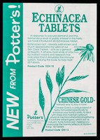 view [Leaflet dated February 1992 advertising Potter's Echinacea and Chinese Gold tablets].