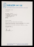 view [1992 letterhead for Weleda UK, makers of natural medicines and toiletries].