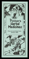 view [January 1992 price list for Potter's Herbal Supplies (green paper)].