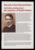 view [Leaflet about Rudolf Steiner, anthroposophical medicine, Weleda natural medicines, special education, biodynamic agriculture].