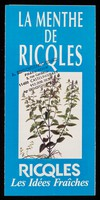 view [Leaflet advertising Ricqles peppermint products (sweets, spray, alcohol, chewing gum etc.)].