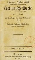 view Thomas Sydenhams des berühmten englischen Arzts Medizinische Werke