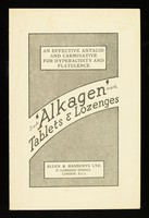 view 'Alkagen' tablets & lozenges : an effective antacid and carminative for hyperacidity and flatulence.