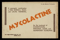 view Mycolactine : a synergetic combination of bile extract, yeast, and lactic ferments.
