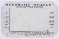 """view Beecham's """"oracle"""" : this novelty is the property of Beechams Pills Limited, St. Helens, England : (registered trade mark no. 586676)."""