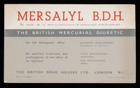 view Mersalyl B.D.H. : the sodium salt of salicyl-(y-hydroxymercuri-β-methoxypropyl) amid-O-acetic acid.