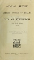 view [Report 1905] / Medical Officer of Health, Edinburgh City.