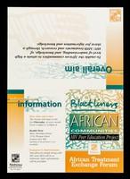 view Blackliners : African communities HIV peer education project : African Exchange Treament Forum.