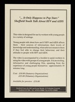 """view """"...It only happens to popstars"""" : Sheffield youth talk about HIV and AIDS / Sheffield Centre for HIV and Sexual Health."""