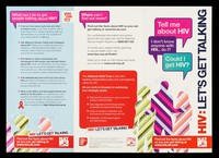 view HIV : let's get talking : Tell me about HIV : I don't know anyone with HIV... do I? Could I get HIV? / Aware Ltd.
